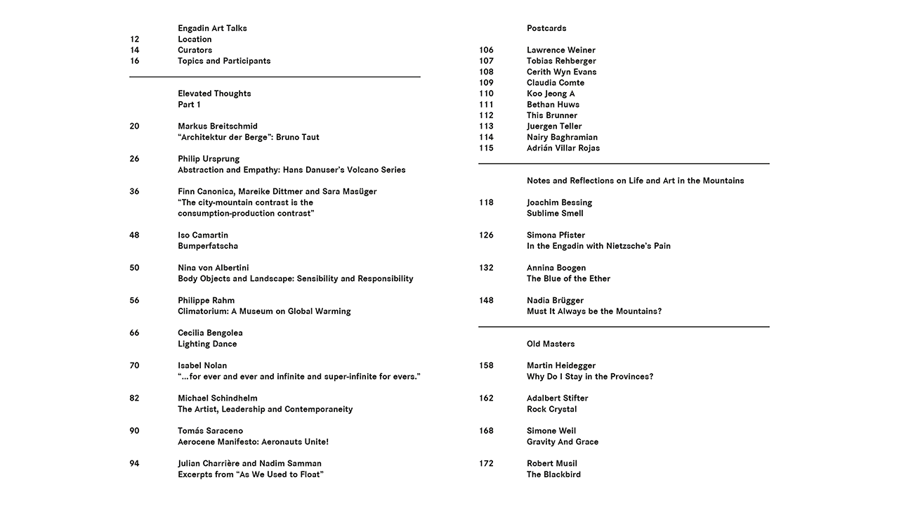 Thinking in Thin Air – Table of Contents