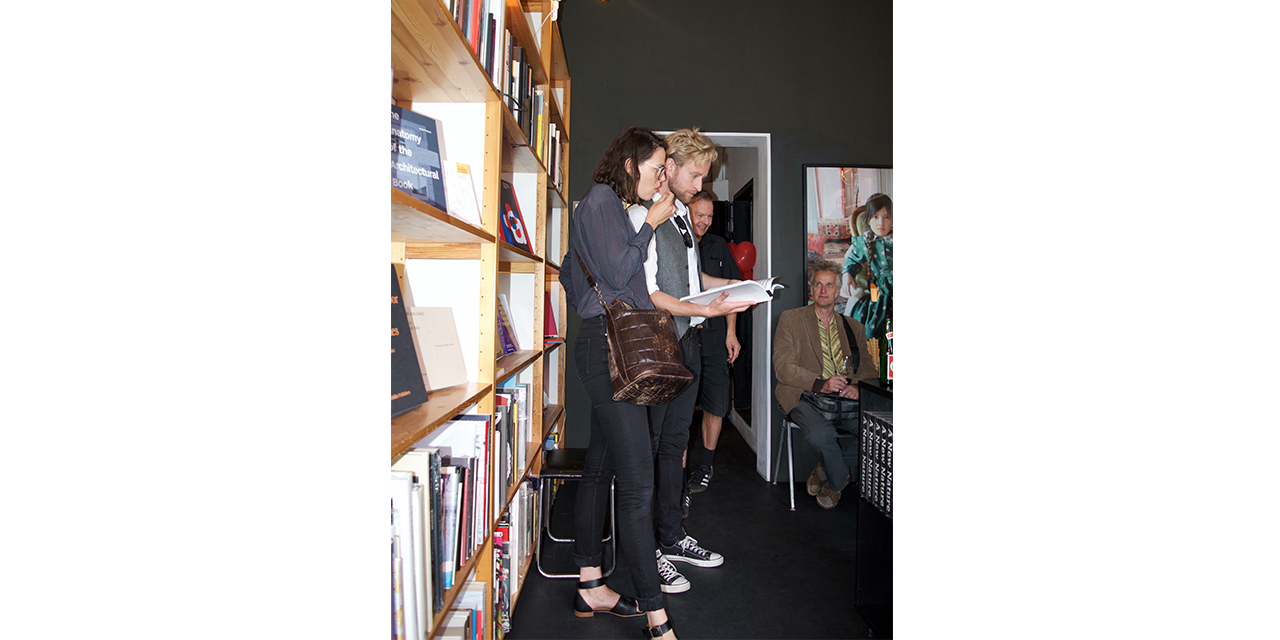 Guests studying our books