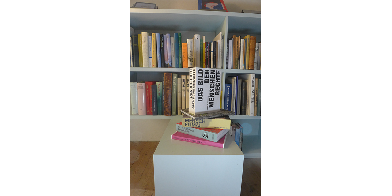 Our books in their new home