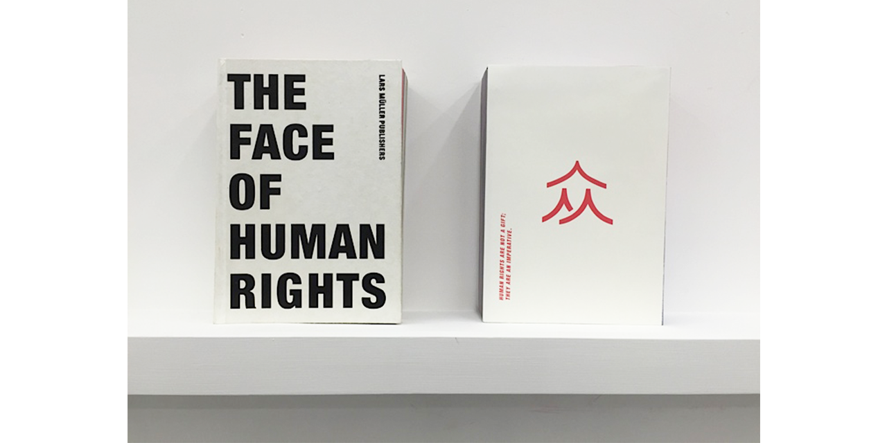 Reduced yet meaningful back cover for The Face of Human Rights